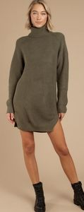 Tobi cowl neck oversized sweater dress